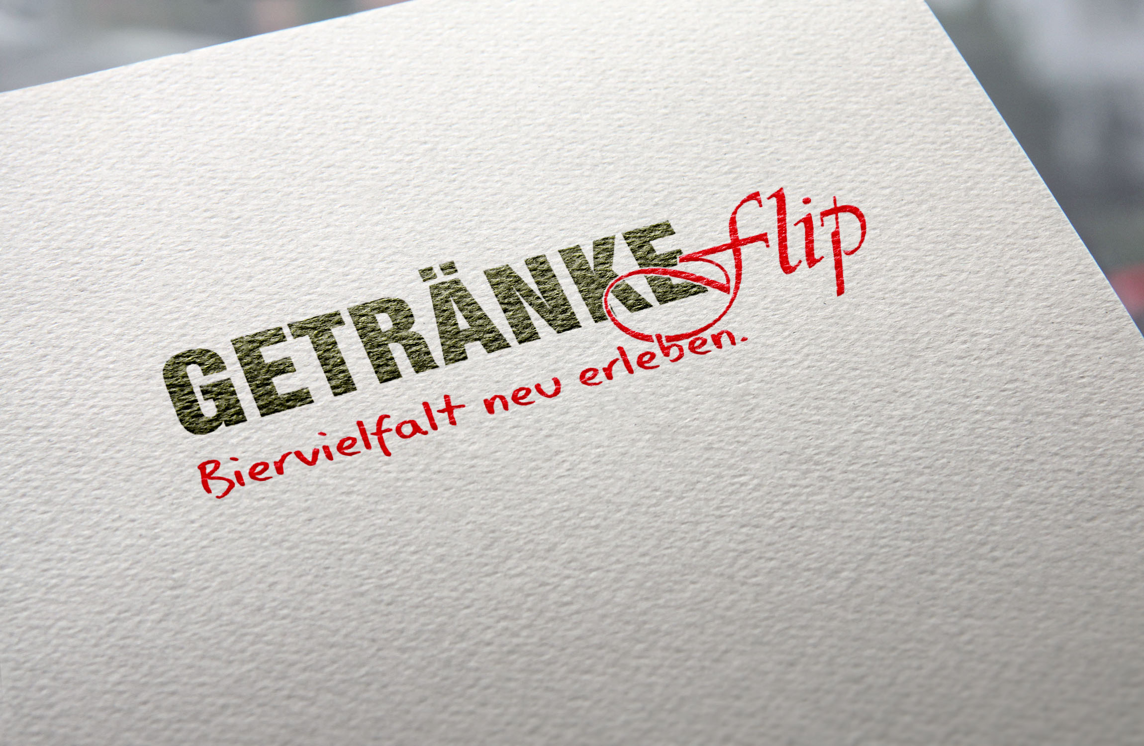 Logo Getränke Flip | XXL-Design | tegknet